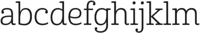 Cabrito Norm Book otf (400) Font LOWERCASE