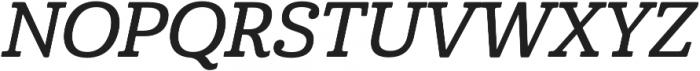 Cabrito Norm Demi Italic otf (400) Font UPPERCASE
