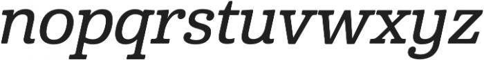 Cabrito Norm Demi Italic otf (400) Font LOWERCASE