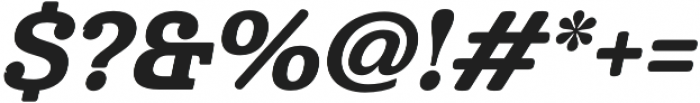 Cabrito Norm ExBold Italic otf (700) Font OTHER CHARS