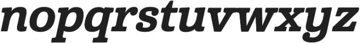 Cabrito Norm ExBold Italic otf (700) Font LOWERCASE