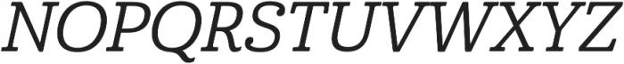 Cabrito Norm Medium Italic otf (500) Font UPPERCASE