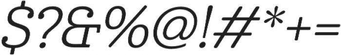 Cabrito Norm Regular Italic otf (400) Font OTHER CHARS