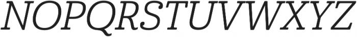 Cabrito Norm Regular Italic otf (400) Font UPPERCASE