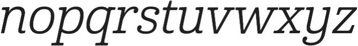 Cabrito Norm Regular Italic otf (400) Font LOWERCASE