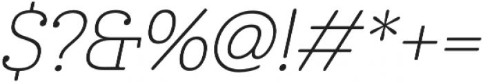 Cabrito Norm Thin Italic otf (100) Font OTHER CHARS