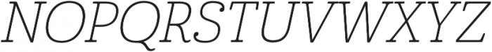 Cabrito Norm Thin Italic otf (100) Font UPPERCASE
