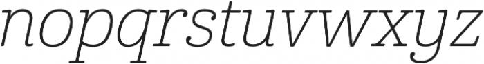 Cabrito Norm Thin Italic otf (100) Font LOWERCASE