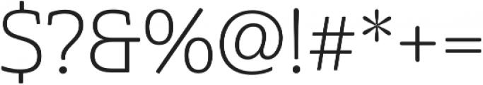 Cabrito Semi otf (300) Font OTHER CHARS