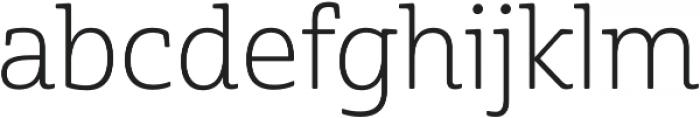 Cabrito Semi otf (300) Font LOWERCASE