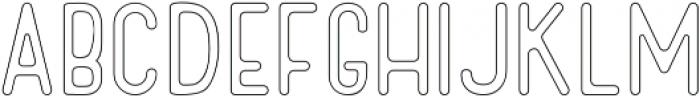 Cactuso Outline ttf (400) Font LOWERCASE