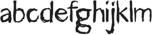 Caffeine 20 Regular otf (400) Font LOWERCASE