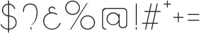 Caiman otf (100) Font OTHER CHARS