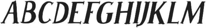 Caitiff Slanted ttf (400) Font UPPERCASE