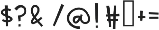 CakeBatter otf (400) Font OTHER CHARS