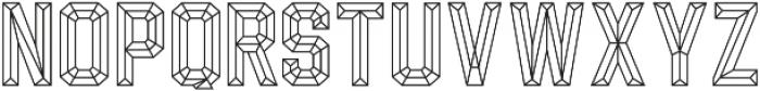 Calcuta_Line ttf (400) Font UPPERCASE