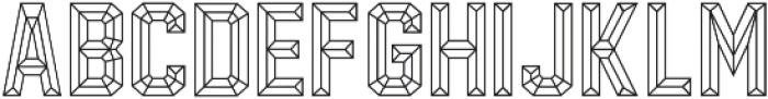Calcuta_Line ttf (400) Font LOWERCASE