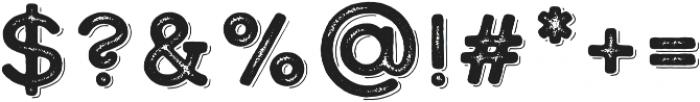 Calder Dark Grit Shadow otf (400) Font OTHER CHARS