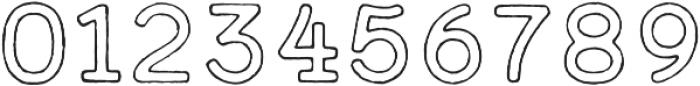 Calder Dark Outline otf (400) Font OTHER CHARS