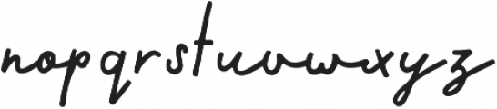 Calder Script otf (400) Font LOWERCASE