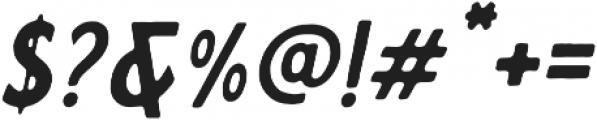 Calderock Inky Slant otf (400) Font OTHER CHARS