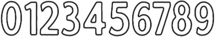 Calderock Outline otf (400) Font OTHER CHARS