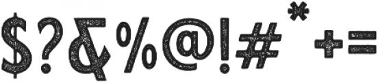 Calderock Stamp otf (400) Font OTHER CHARS
