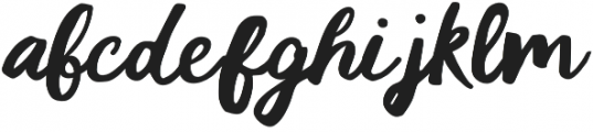 Cali Style Cursive otf (400) Font LOWERCASE