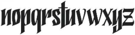 California Freestyle Regular otf (400) Font LOWERCASE