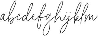 California Girl Regular otf (400) Font LOWERCASE