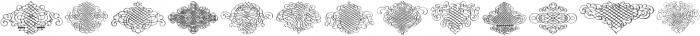 Calligraphia Latina 3 Regular ttf (400) Font UPPERCASE