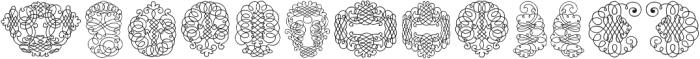CalligraphiaLatinaSoft2 Regular ttf (400) Font UPPERCASE