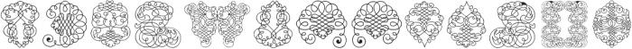 CalligraphiaLatinaSoft2 Regular ttf (400) Font LOWERCASE