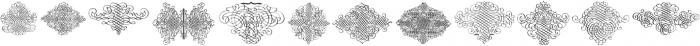 CalligraphiaLatinaSquareEdition Regular ttf (400) Font LOWERCASE