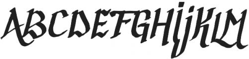 Calligraphica Regular otf (400) Font UPPERCASE
