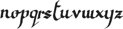 Calligraphica Regular otf (400) Font LOWERCASE