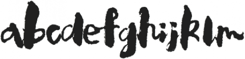 Calligraphy Regular ttf (400) Font LOWERCASE