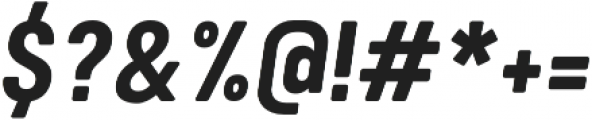 Calps Bold Italic otf (700) Font OTHER CHARS