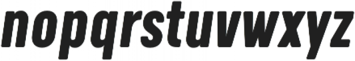 Calps Slim Bold Italic otf (700) Font LOWERCASE