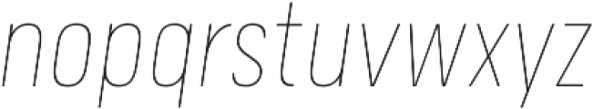 Calps Slim Thin Italic otf (100) Font LOWERCASE