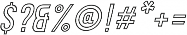 Calvier Hollow Light Italic otf (300) Font OTHER CHARS