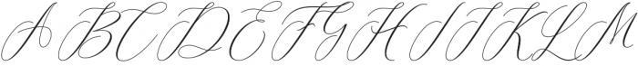 Camelia Regular otf (400) Font UPPERCASE