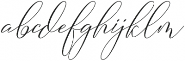 Camelia Regular otf (400) Font LOWERCASE