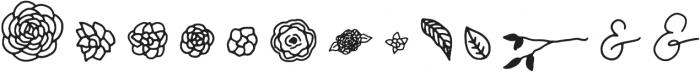 Camellia Extras Regular otf (400) Font LOWERCASE