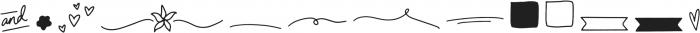 Camellia Extras Regular ttf (400) Font LOWERCASE