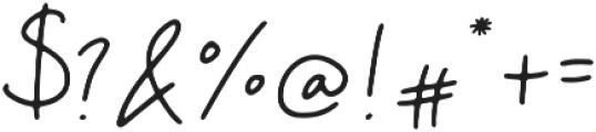 Camellia Regular otf (400) Font OTHER CHARS