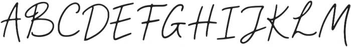 Camellia Regular otf (400) Font UPPERCASE