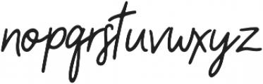 Camellia Regular otf (400) Font LOWERCASE