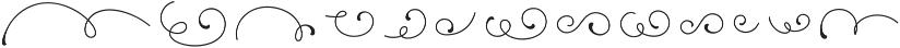Camellias Flourish ttf (400) Font LOWERCASE
