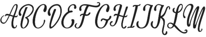 Camellias otf (400) Font UPPERCASE
